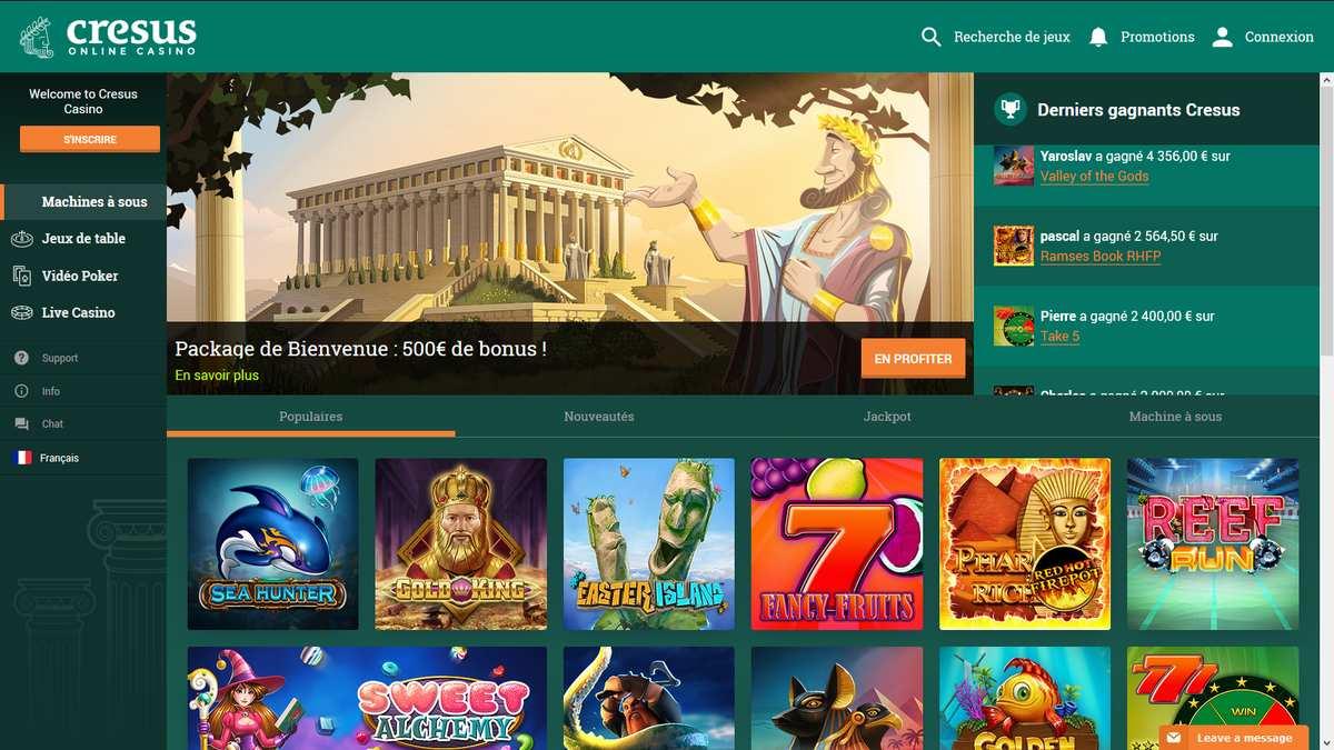 Avis casino Cresus : notre avis objectif et détaillé du casino
