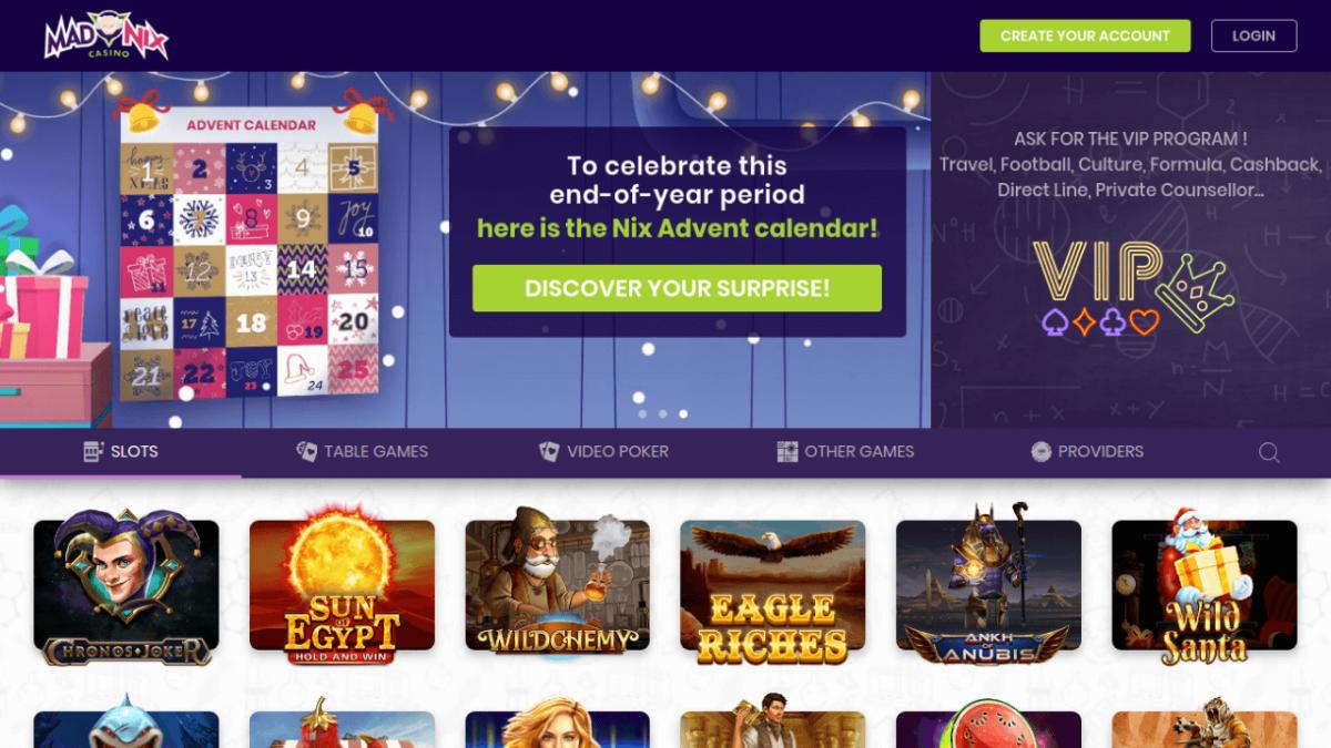 Avis casino MadNix : un casino à essayer absolument !