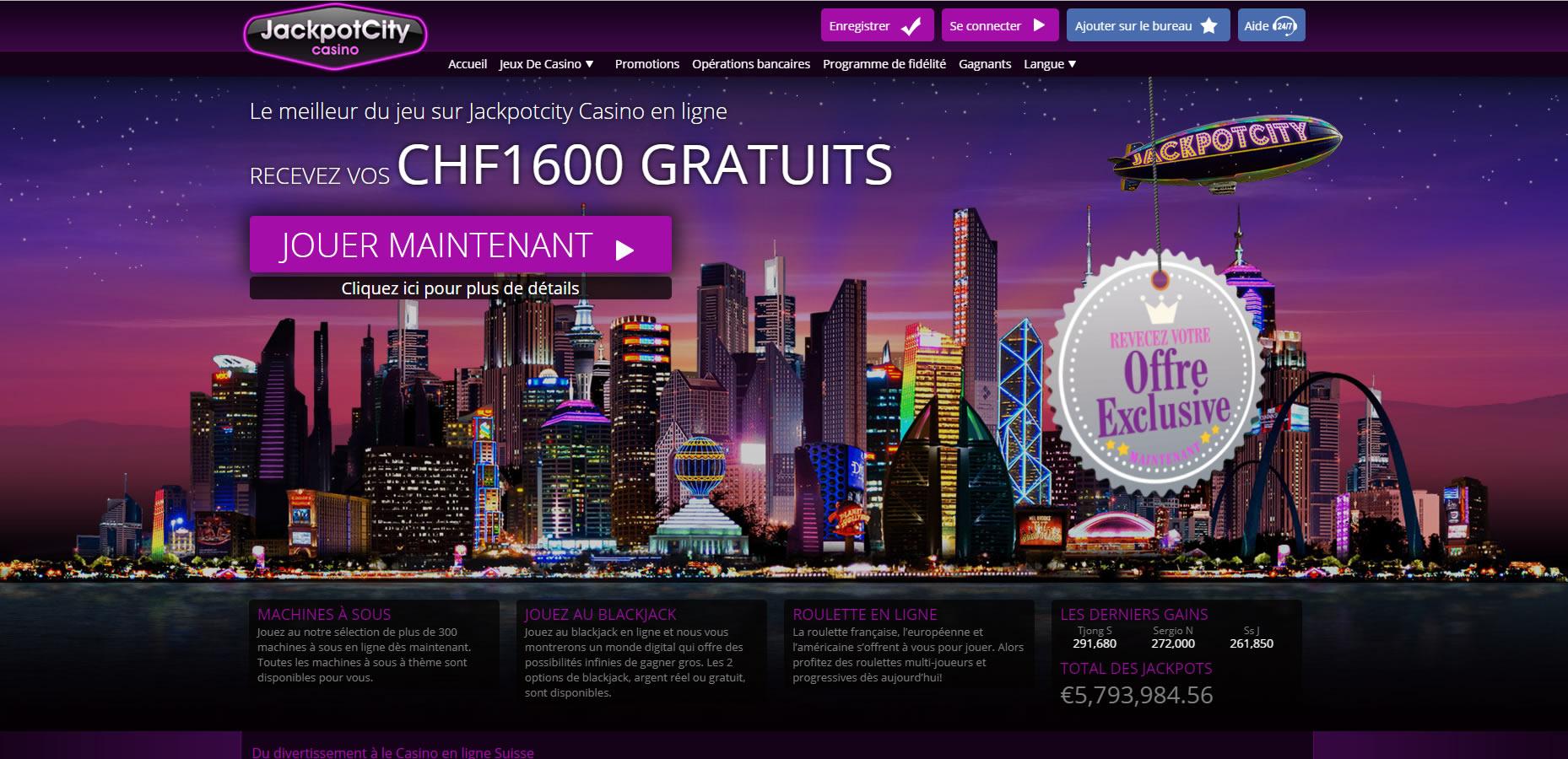 Avis Jackpot City casino : bilan de ce casino en ligne !
