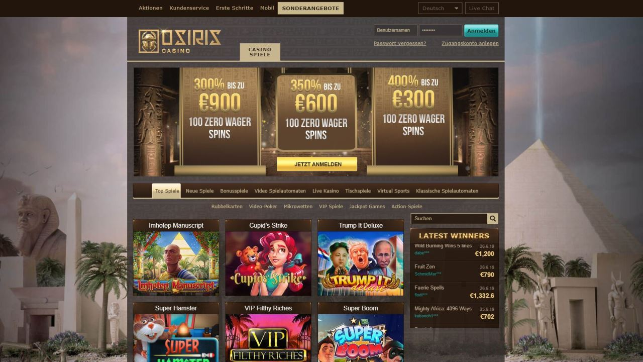 Avis Osiris casino : notre avis détaillé