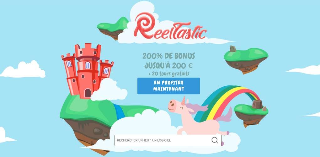Reeltastic Casino Avis 2020 : un casino noté 10/10 plus bonus 500 euros !